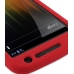Samsung Galaxy Nexus Luxury Silicone Soft Case (Red) genuine leather case by PDair