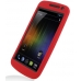 Samsung Galaxy Nexus Luxury Silicone Soft Case (Red) custom degsined carrying case by PDair