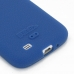 Samsung Galaxy S4 Luxury Silicone Soft Case (Blue) genuine leather case by PDair