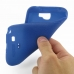 Samsung Galaxy Note 2 Luxury Silicone Soft Case (Blue) genuine leather case by PDair