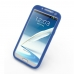 Samsung Galaxy Note 2 Luxury Silicone Soft Case (Blue) top quality leather case by PDair