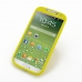 Samsung Galaxy S4 Luxury Silicone Soft Case (Yellow) custom degsined carrying case by PDair
