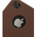 iPhone 4 4s Luxury Silicone Soft Case (Chocolate Brown) protective carrying case by PDair