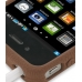 iPhone 4 4s Luxury Silicone Soft Case (Chocolate Brown) handmade leather case by PDair