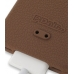 iPhone 4 4s Luxury Silicone Soft Case (Chocolate Brown) genuine leather case by PDair