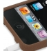 iPod Touch 3rd 2009 Luxury Silicone Soft Case (Chocolate Brown) genuine leather case by PDair