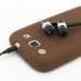 Samsung Galaxy S3 Luxury Silicone Soft Case (Chocolate Brown) protective carrying case by PDair
