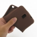 Samsung Galaxy Note 3 Luxury Silicone Soft Case (Chocolate Brown) top quality leather case by PDair