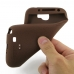 Samsung Galaxy Note 2 Luxury Silicone Soft Case (Chocolate Brown) genuine leather case by PDair