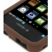 Samsung Vibrant Galaxy S Luxury Silicone Soft Case (Chocolate Brown) handmade leather case by PDair