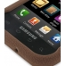 Samsung Vibrant Galaxy S Luxury Silicone Soft Case (Chocolate Brown) genuine leather case by PDair
