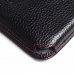 Motorola DROID Turbo Leather Wallet Sleeve Case (Red Stitching) top quality leather case by PDair