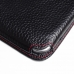Samsung Galaxy E7 Leather Wallet Sleeve Case (Red Stitching) top quality leather case by PDair