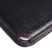 Samsung Galaxy J5 Leather Wallet Sleeve Case (Red Stitching) top quality leather case by PDair