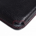 Sony Xperia Z1 Leather Wallet Sleeve Case (Red Stitching) top quality leather case by PDair