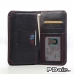 Sony Xperia Z1 Leather Wallet Sleeve Case (Red Stitching) offers worldwide free shipping by PDair
