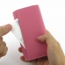 iPhone 5 5s Leather Wallet Case (Petal Pink Pebble Leather) top quality leather case by PDair