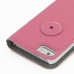 iPhone 5 5s Leather Flip Cover (Pink Pebble Leather) protective carrying case by PDair
