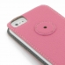 iPhone 5 5s Leather Flip Case (Pink Pebble Leather) protective carrying case by PDair