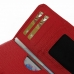 LG G3 Leather Wallet Sleeve Case (Red Pebble Leather) protective carrying case by PDair