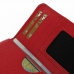 Samsung Galaxy E7 Leather Wallet Sleeve Case (Red Pebble Leather) handmade leather case by PDair