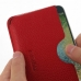 Samsung Galaxy E7 Leather Wallet Sleeve Case (Red Pebble Leather) genuine leather case by PDair