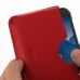 Samsung Galaxy S5 Active Leather Wallet Sleeve Case (Red Pebble Leather) genuine leather case by PDair