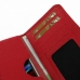Sony Xperia Z1 Leather Wallet Sleeve Case (Red Pebble Leather) handmade leather case by PDair