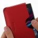 Sony Xperia Z1 Leather Wallet Sleeve Case (Red Pebble Leather) genuine leather case by PDair