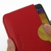 Samsung Galaxy Note 3 Leather Wallet Sleeve Case (Red Pebble Leather) genuine leather case by PDair