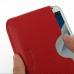 Samsung Galaxy Note 2 Leather Wallet Sleeve Case (Red Pebble Leather) genuine leather case by PDair