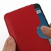 Nexus 6 Leather Wallet Sleeve Case (Red Pebble Leather) genuine leather case by PDair