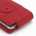 iPhone 4 4s Leather Flip Case (Snap Button) (Red Pebble Leather) protective carrying case by PDair
