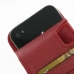 iPhone 4 4s Leather Flip Case (Snap Button) (Red Pebble Leather) genuine leather case by PDair