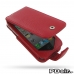 iPhone 4 4s Leather Flip Case (Snap Button) (Red Pebble Leather) best cellphone case by PDair