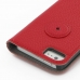 iPhone 5 5s Leather Flip Cover (Red Pebble Leather) protective carrying case by PDair
