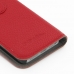 iPhone 5 5s Leather Flip Cover (Red Pebble Leather) handmade leather case by PDair