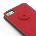 iPhone 5 5s Leather Flip Case (Red Pebble Leather) protective carrying case by PDair