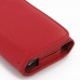 iPhone 5 5s Leather Wallet Case (Red Pebble Leather) protective carrying case by PDair