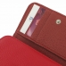 iPhone 5 5s Leather Wallet Case (Red Pebble Leather) genuine leather case by PDair