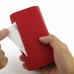 iPhone 5 5s Leather Wallet Case (Red Pebble Leather) top quality leather case by PDair