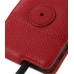 Samsung Galaxy S2 Leather Flip Case (Red Pebble Leather) protective carrying case by PDair
