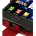 Samsung Galaxy S2 Leather Flip Case (Red Pebble Leather) genuine leather case by PDair