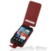 Samsung Galaxy S2 Leather Flip Case (Red Pebble Leather) custom degsined carrying case by PDair