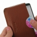 LG G3 Leather Wallet Sleeve Case (Brown Pebble Leather) genuine leather case by PDair