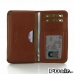LG G3 Leather Wallet Sleeve Case (Brown Pebble Leather) offers worldwide free shipping by PDair