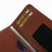 Motorola DROID Turbo Leather Wallet Sleeve Case (Brown Pebble Leather) handmade leather case by PDair