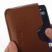Motorola DROID Turbo Leather Wallet Sleeve Case (Brown Pebble Leather) genuine leather case by PDair