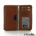 Motorola DROID Turbo Leather Wallet Sleeve Case (Brown Pebble Leather) offers worldwide free shipping by PDair