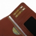 Samsung Galaxy E7 Leather Wallet Sleeve Case (Brown Pebble Leather) handmade leather case by PDair